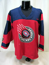 Nike NHL Montreal Canadiens V-Neck Red/Blue Pullover Cotton Blend Shirt