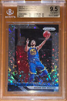 Pop 3💎2018-19 Stephen Curry PANINI PRIZM SILVER FAST REFRACTOR 222 BGS 9.5 PSA