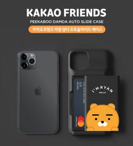 Official KAKAO FRIENDS Peekaboo Damda Semi-Auto Slide Phone Case Mobile Cover