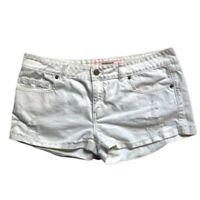 Victorias Secret Pink Limited Edition White Denim Shorts Distressed Cutoff 12