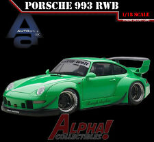 AUTOART 78151 1:18 PORSCHE RWB 993 GREEN/GREY WHEELS SUPERCAR