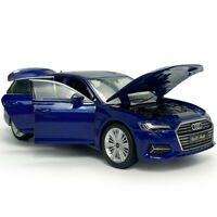 1:32 Scale Audi A6 Model Car Diecast Gift Toy Vehicle Kids Blue Collection Sound