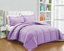 Full Size All Season Down Alternative Comforter Egyptian Cotton Lavender Solid