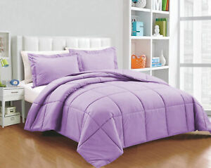 King Size All Season Down Alternative Comforter Egyptian Cotton Lavender Solid