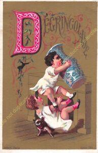 Kitschbild Illustration Aubry Paris Humor Alphabet Brief D
