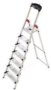 Hailo 8040-707 7 Tread Aluminum Deluxe Extra-Deep Comfort Steps