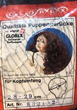 NEW Glorex 28-29 Cm Black Extra Long Full Curly Doll Wig Switzerland