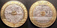 France - Vème République - 20 Francs St-Michel 1992 5 stries V ouvert - F.403/3