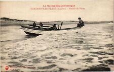 CPA  Surtainville-Plage(Manche) -Retour de Péche    (246059)