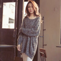 OVERSIZE Womens Baggy Sweater Jumper Knitted Slouchy Chunky Knit Top Cardigan