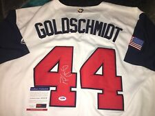 Paul Goldschmidt Signed 2017 World Baseball Classic Jersey Team USA PSA/DNA
