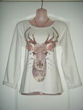River Island Crew Neck 3/4 Sleeve Hip Length Women's Jumpers & Cardigans