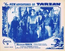 NEW ADVENTURES OF TARZAN 1935 Herman Brix Chapter 9 VINTAGE SERIAL Lobby Card 4