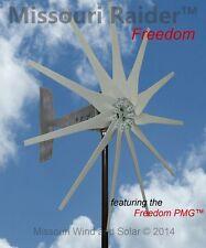 Missouri Raider Freedom 11 Blade 12V 1700 Watt Max Wind Turbine Bare Steel