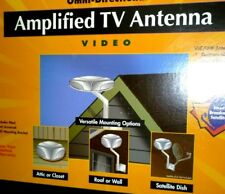 RCA AMPLIFIED (20db)-  360 degree - 55 MILE - UHF / VHF ANTENNA - COMPLETE - NEW