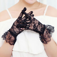 Lady Girl Wedding Lace Satin Party Bridal Dress Elegant Chic Bride Gloves K