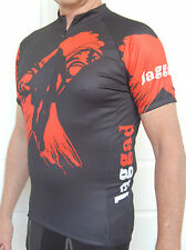 MTB Jaggad cycling bike Jersey shirt Mens Womens Black & red size S M L XL
