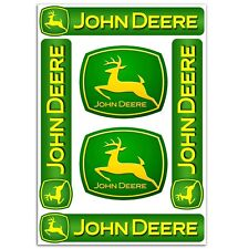 Set 6 Stickers Vinyl John Deere Farming Tractor Agriculture Lawnmower Decal D 3