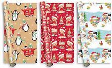 3 Christmas Cute Gift Wrap Roll Wrapping Paper Luxury Xmas Greeting Birthday Kid