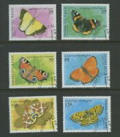 Butterflies set of 6 stamps cto 1997 Western Sahara