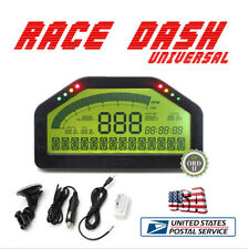 Universal Dash Race Display OBD2 Bluetooth Dashboard LCD Screen Digital Gauge US