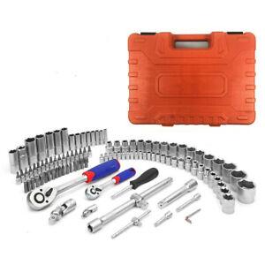 "108pc 1/4""1/2"" Metric Socket Set Wrench Tool Kit Torx Ratchet Driver Screwdrive"