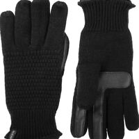 ISOTONER Signature Textured Knit Touchscreen SmartDRI women's gloves BLACK