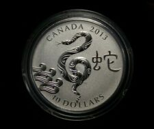 2013 $10 Fine Silver Year of the Snake