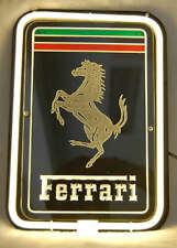 """Ferrari 3D Carved Neon Sign Beer Bar Gift 14""""x7"""" Light Lamp Artwork"""