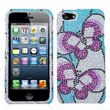 iPhone 5 5S SE Crystal Diamond BLING Hard Case Phone Cover Nifty Butterfly
