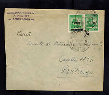 1948 Concepcion Chile Cover Society for Protection of Israelite Immigrants