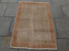 Traditional Hand Made Persian Oriental Gabbeh Rug Wool Beige 145x105cm