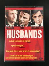 Husbands (DVD, 1970, Extended Cut) John Cassavetes Peter Falk Ben Gazzara
