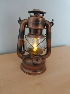 Battery Operated Faux Copper Lamp