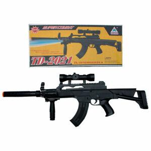 TD-2021 Kids Toy Gift Rifle Gun with Flashing Lights Sound Vibration FAST POST