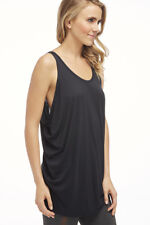 Fabletics Barbados Tank XXS 0-2 Black Relaxed Fit Kate Hudson Modal New