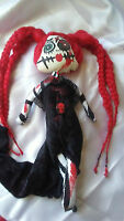 Gothic Doll Zombie,Halloween,Voodoo ,Evil Dead,Skull,Red Head Monster,Crazy Doll