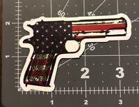 Red White Blue Handgun Adult Humor Skateboard /Laptop/ Guitar Decal Sticker