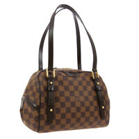 LOUIS VUITTON RIVINGTON PM SHOULDER BAG DU3190 DAMIER EBENE N41157 AUTH 01476