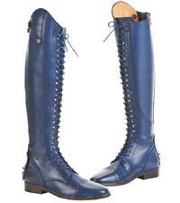 Lederreitstiefel Laval Polo-Schnürung blau Busse Rindsleder Reitstiefel Stiefel
