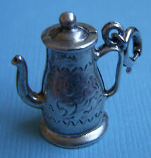 Vintage Jewelart teapot with flowers sterling charm