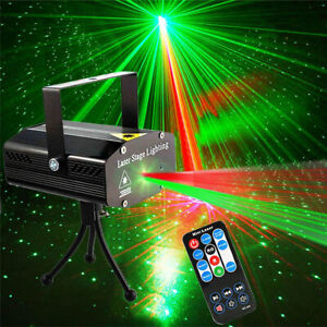 Mini LED Stage Lighting Laser Projector Disco Home Party Club Beam DJ Show Light