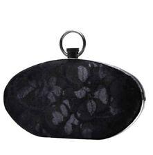 Prabal Gurung + Target Black Lace Hard Sided Hinged Clutch Purse w/ Strap - NWT