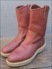 Vintage Carolina USA Men's 7.5 D Leather Steel Toe Biker/Work Boots w/Wedge Sole