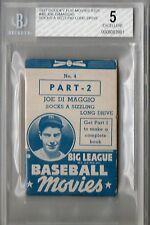 1937 Goudey Flip Movies R326 Joe DiMaggio #4B Beckett 5 HS70