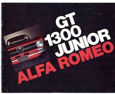 Alfa Romeo Giulia 1300 GT Junior 1971-72 UK Market Sales Brochure