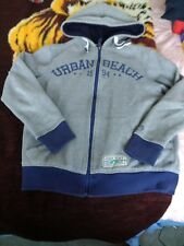 Urban Beach Lined Full Zip Hoodie Mens Size Small