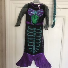7-8 Yrs Girls Mermaid Halloween Outfit From F&f.