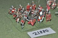 25mm medieval / english - dismounted men at arms 16 figs infantry - inf (21880)
