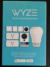Wyze Smart Home Starter Pack W Camera, Motion Sensor, Smart Plugs & LED Bulbs